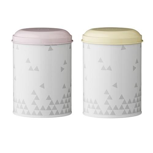 Set 2 cutii pentru cafea/ceai Alberte