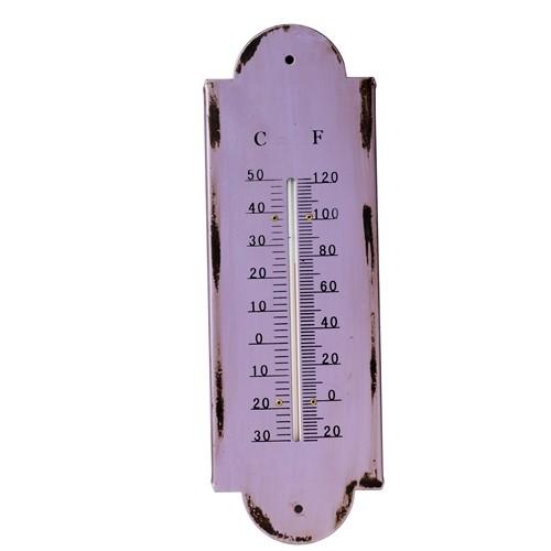 Termometru Violet, Metal, 10x30x1,2 cm