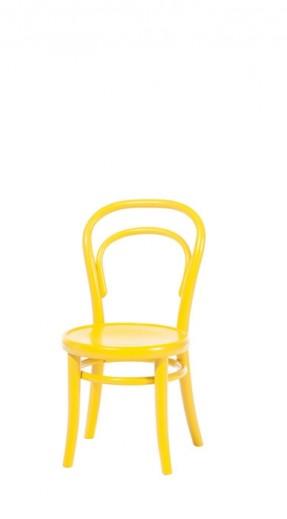 Scaun pentru copii, din lemn de fag Petit Yellow, l32xA40,5xH63 cm