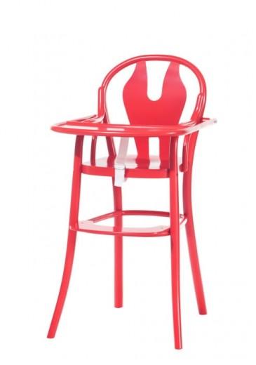 Scaun pentru copii, din lemn de fag Petit 114 Red, l48xA57xH93 cm