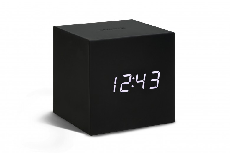 Ceas inteligent cu senzor de alarma Gravity Cube Click Clock Black