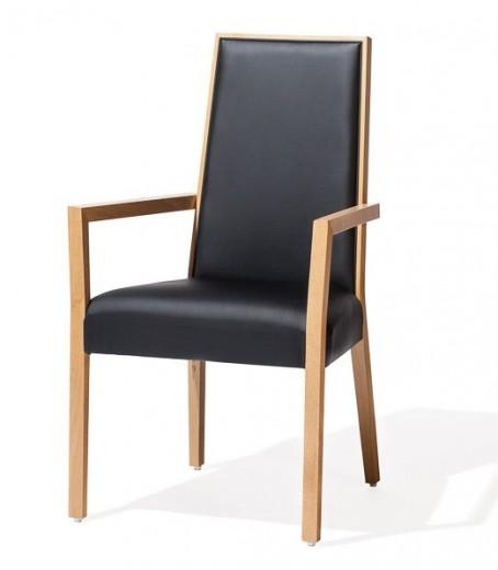 Scaun tapitat cu stofa, cu picioare din lemn de fag Paris Black, l54xA45xH97 cm