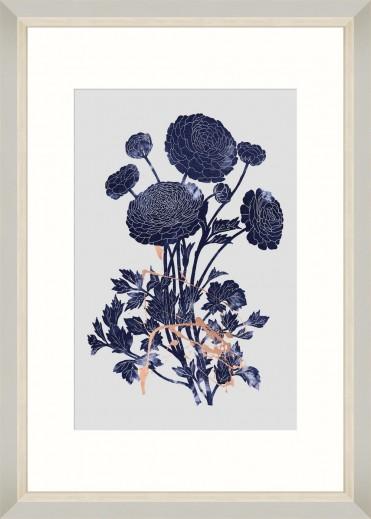 Tablou Framed Art Indigo Ranunculus