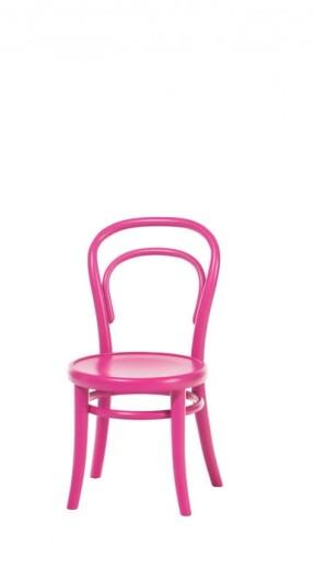 Scaun pentru copii, din lemn de fag Petit Pink, l32xA40,5xH63 cm