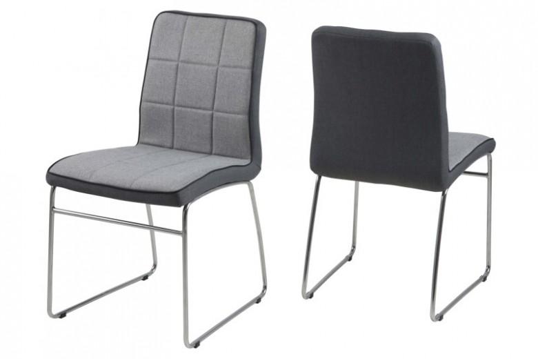 Set 4 scaune metalice tapitate Justin Light Grey