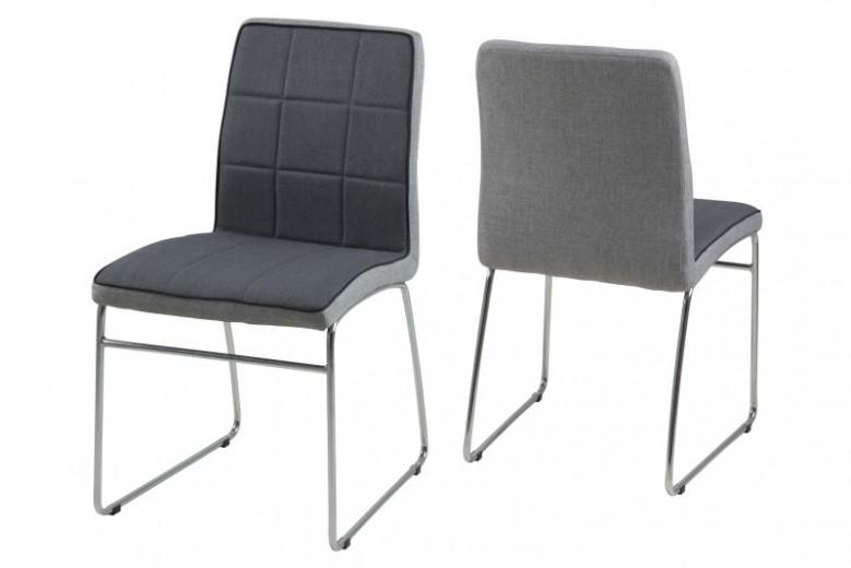 Set 4 scaune metalice tapitate Justin Dark Grey
