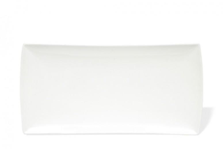 Platou Servire Portelan, Alb, East meets West, 36 x 18 cm