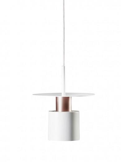 Lustra Kolorit White / Copper, Ø 20 cm