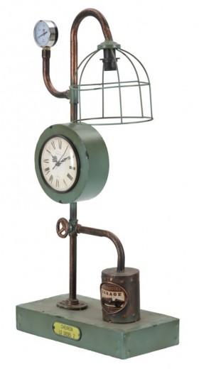 Lampa de birou cu ceas Iron