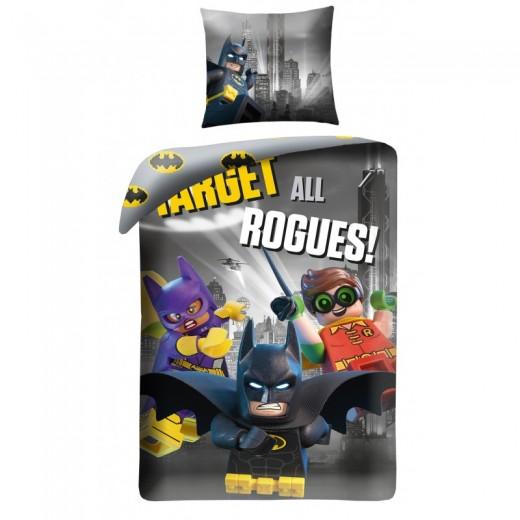 Lenjerie de pat copii Cotton Lego Batman LEG512BL