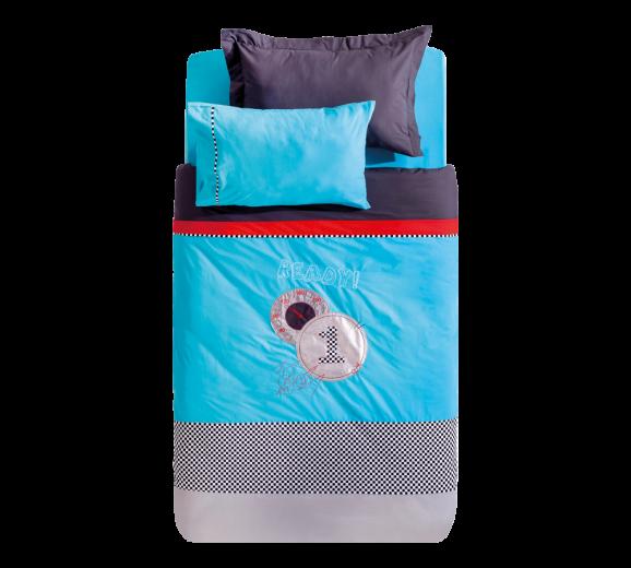 Lenjerie de pat copii Biconcept Multicolour / Blue