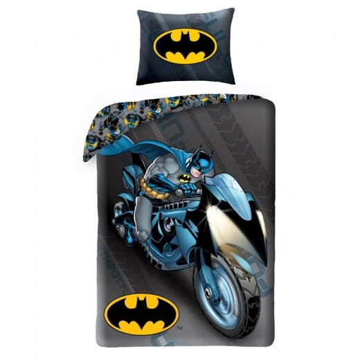 Lenjerie de pat copii Cotton Batman BM-4005BL