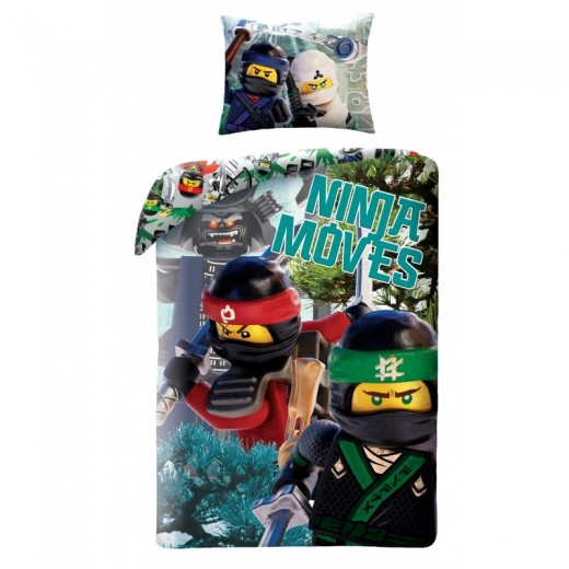 Lenjerie de pat copii Cotton Lego Movie LEG570BL