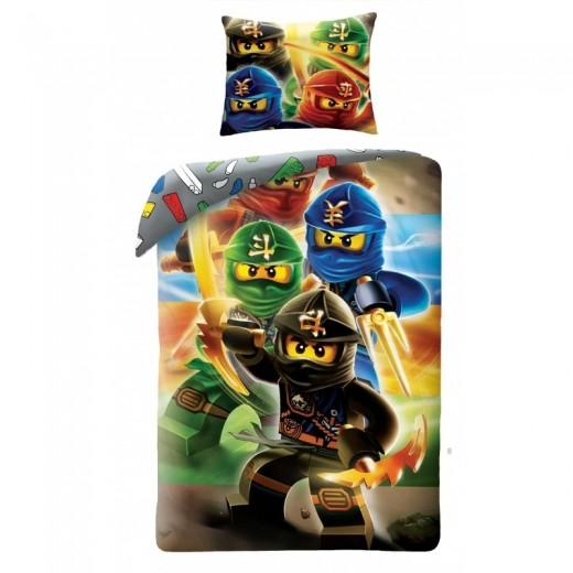 Lenjerie de pat copii Cotton LEGO Ninjago LEG374BL-200 x 140 cm