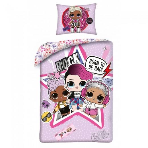 Lenjerie de pat copii Cotton Lol Surprise LOL-18BL
