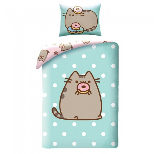 Lenjerie de pat copii Cotton Pusheen PUS-030BL