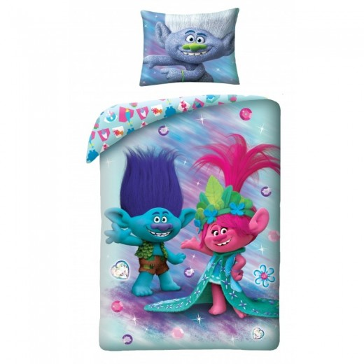 Lenjerie de pat copii Cotton Trolls TM-9034BL
