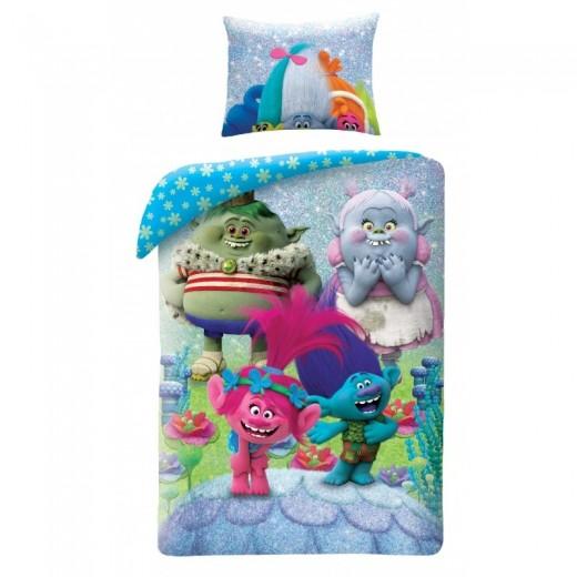 Lenjerie de pat copii Cotton Trolls TM-9022BL