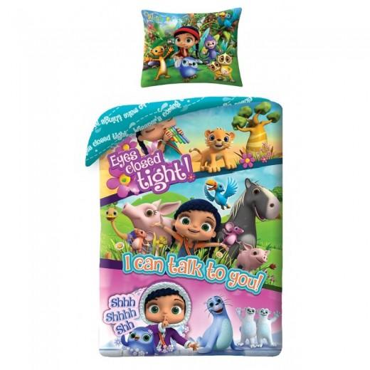 Lenjerie de pat copii Cotton Wissper WP-2112BL