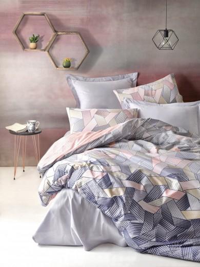 Lenjerie de pat din bumbac Ranforce, Dennis Multicolor, 200 x 220 cm