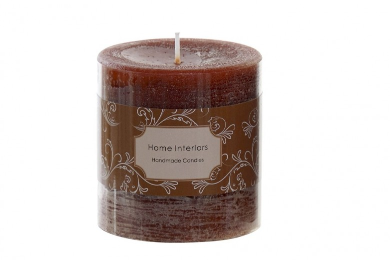 Lumanare parfumata cilindrica, Rustica Maro, Ø6,8xH7 cm