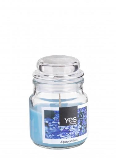 Lumanare parfumata Jug Albastru, Ø6xH8 cm