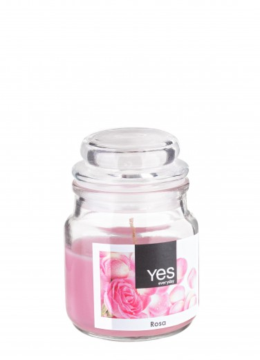 Lumanare parfumata Jug Roz, Ø6xH8 cm