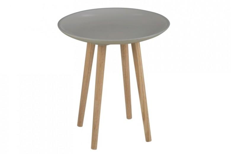 Masuta din MDF si lemn Maeva Grey, Ø40xh44 cm