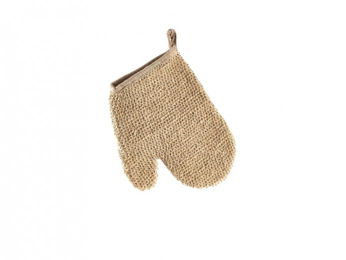 Manusa pentru exfoliere, din canepa Terry 10925 Natural, L22xl18xH1,5 cm, Villa Collection