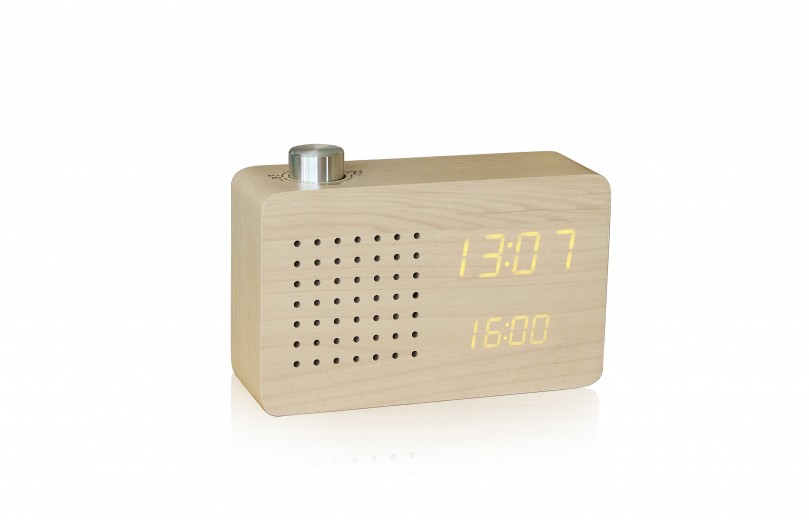 Ceas Radio Click Clock Maple