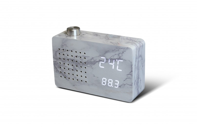 Ceas Radio Click Clock Marble