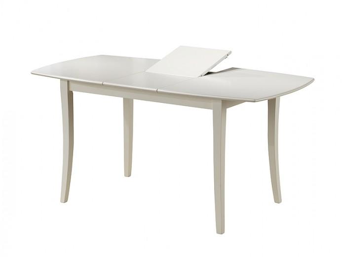 Masa extensibila din lemn masiv Martina bianco, L110-145xl80xh75 cm