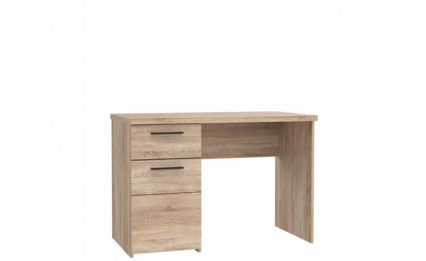 Masa de birou din pal, cu 1 sertar si 1 usa Combo Stejar Sonoma, L110xl60xH76,3 cm