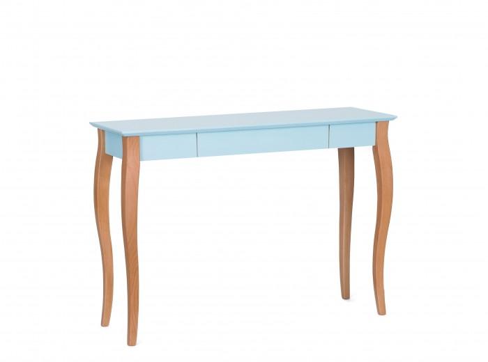 Masa de birou din lemn de fag si MDF, cu 1 sertar Lillo Large Light Turquoise / Beech, L105xl40xH74 cm