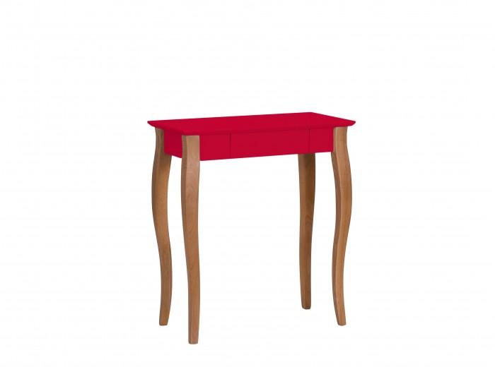 Masa de birou din lemn de fag si MDF, cu 1 sertar Lillo Small Red / Beech, L65xl40xH74 cm