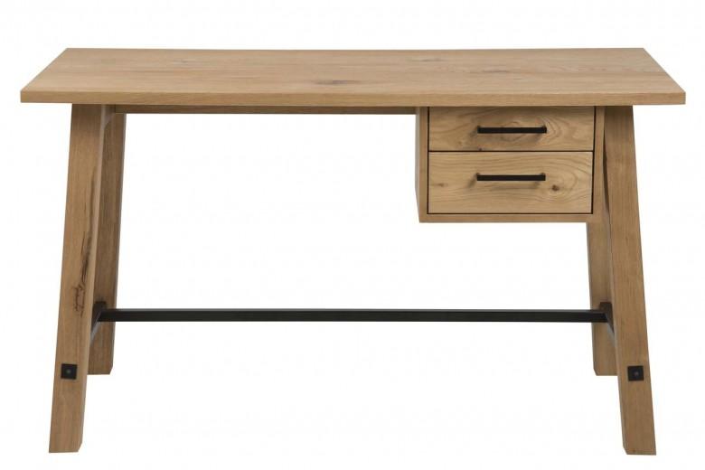 Masa de birou din lemn si furnir Stockholm Natural, L130xl60xH75 cm