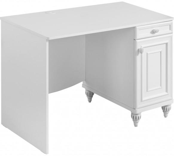 Masa de birou din pal, pentru copii si tineret Romantica White, L106xl62xH75 cm