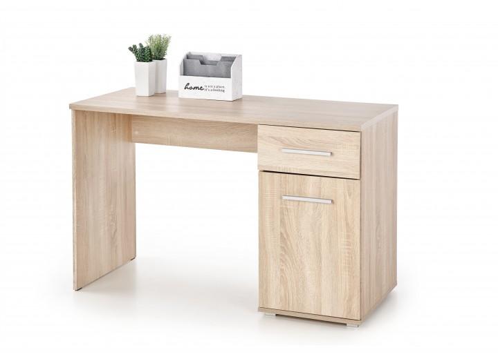 Masa de birou din pal, cu 1 sertar si 1 usa Lima B-1 Stejar Sonoma, L120xl55xH75 cm