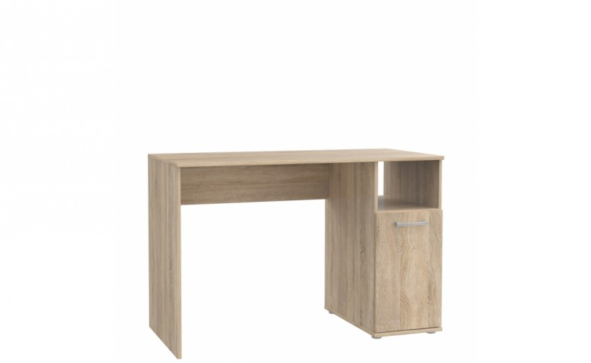 Masa de birou din pal, cu 1 usa Nikita Stejar Sonoma, L110xl52xH72,8 cm