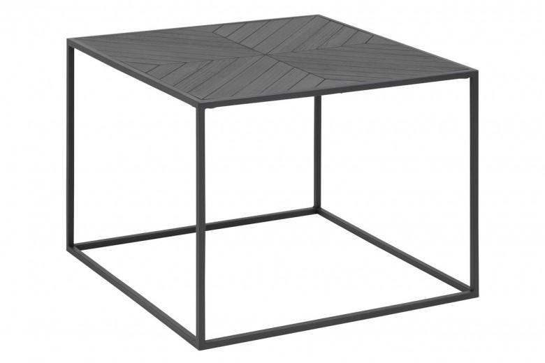 Masa de cafea din furnir si metal Ortiz Negru, L60xl60xH45 cm