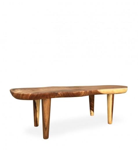 Masa de cafea din lemn, Suar Nuc, L130xl50xH45 cm
