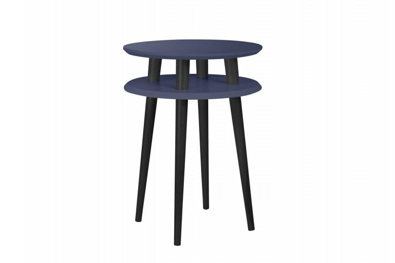 "Masa de cafea din lemn de fag si MDF ""Ufo High"" Graphite / Black, Ø45xH61 cm"