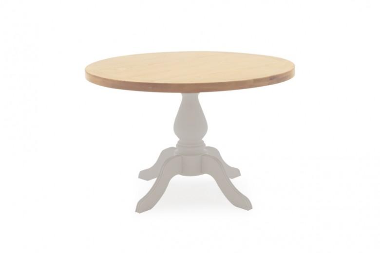 Masa din lemn de salcam si stejar Clemence Round Grey / Oak,  Ø120xH77 cm