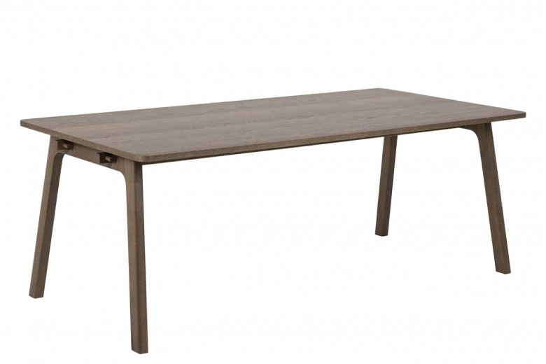 Masa din lemn si furnir de stejar Nordi Stejar, L200xl100xH75 cm