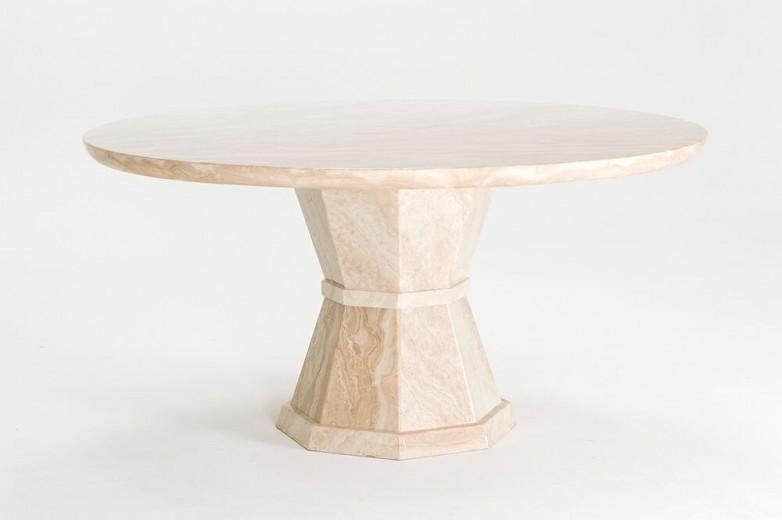 Masa din marmura Marcello Round Cream, Ø150xH75 cm