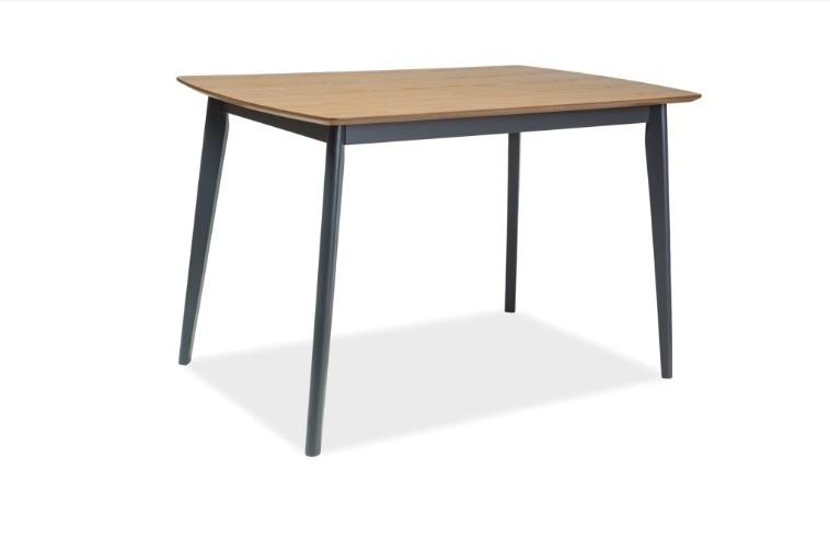 Masa din MDF, furnir si lemn Vitro Stejar / Grafit, L120xl75xH75 cm