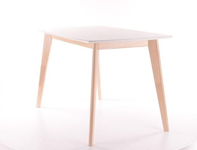 Masa din MDF si lemn Combo Alb / Stejar, L120xl75xH75 cm