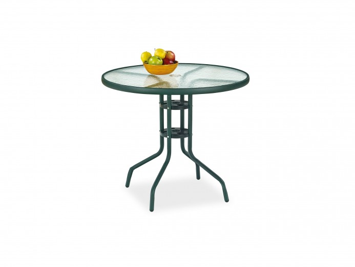 Masa din sticla cu picioare metalice Grand Verde, Ø80xh72 cm
