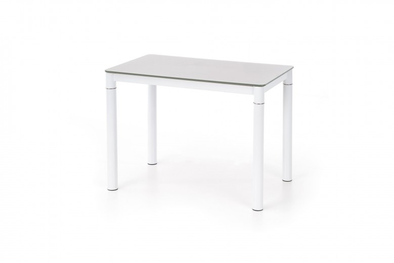 Masa din sticla si metal Argus Beige / White, L100xl60xH75 cm