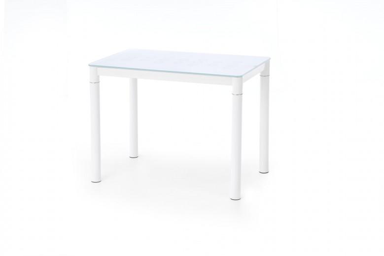 Masa din sticla si metal Argus White, L100xl60xH75 cm